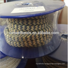 Graphite Aramid fiber braided packing/Aramid fiber and graphite PTFE(SUNWELL)