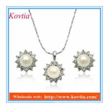 YIWU высокое качество моды дизайн имитация дешевые жемчужное ожерелье и серьги набор