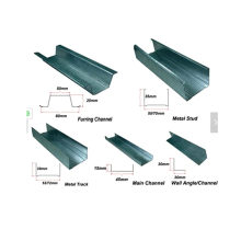 Drywall galvanized sheet light steel profiles metal stud and track roll forming machine ud cd uw cw profiles