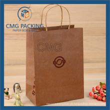 Saco de papel Kraft impresso com alça de papel Tiwst (CMG-MAY-041)