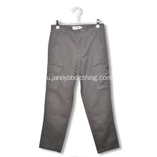 100% cotton grey cargo pants