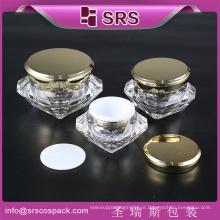 Atacado Luxo Diamante Forma Caracol Creme 50g Container E Cosmético Plástico Embalagem Creme Jar