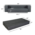 Folding Bed Couch Dark Gray Queen