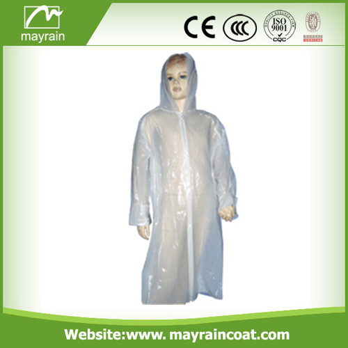 Disposable Adult PE Raincoat