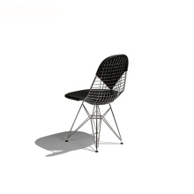 Replica Leather Eames Bikini Pad Wire Chair