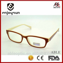 2015 hotselling double colors classic acetate hand made spectacles optical frames eyewear eyeglasses