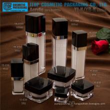 Belle gamme classique et populaire hot-vente de haute qualité étonnante carré bouteille et jar emballage cosmétique de luxe