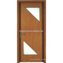 Porte d'entrée intérieure avec du matériel pvc de qualité, achat de portes chinoises
