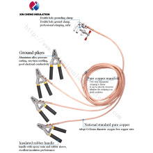 Portable Overhead Line Earthing Set Grounding Set, Pure Copper Cable