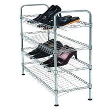 DIY Chrome Plated Metal Frame Shoe Rack Shelf (CJ-B1112)