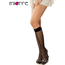 Miorre OEM Women's Sheer Opaque Plain Color Elegant Knee High Socks 2 Colors