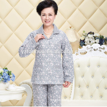Plus Mom Polyester Coral Fleece Warm Payamas Suit