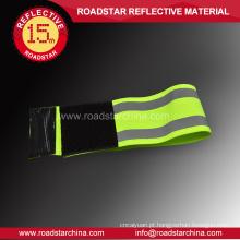 Braçadeira elástica reflexa de segurança alta visibilidade