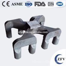 Usine prix OEM cast pan de moule/scories de joug/truie acier anode en fonderie Chine alibaba pour le recyclage de l'aluminium