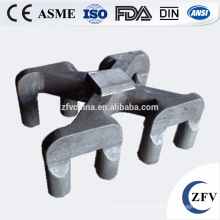 Factory Price OEM cast steel anode yoke/sow mold/dross pan made in alibaba china foundry for aluminum recycling