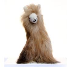 brown 27cm plush alpaca toy
