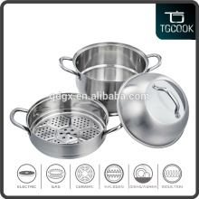 Combination See-through Glass pot lid Stainless steel steamer pot