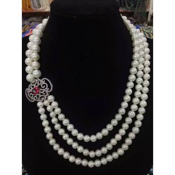 Collier de perles bijoux de mode pour gros