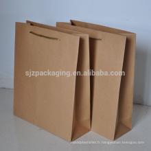 Sac d'emballage Kraft / sac en papier Kraft / Hang Bag