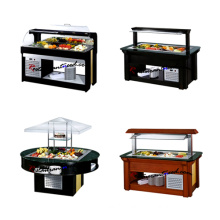 Island Type Siding Door Refrigerated Salad Bar