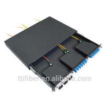 1U MTP / MPO Cassette Patch Panel pour SC, LC MPO Cassette
