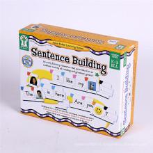 Boîte faite sur commande de livre de carton d'impression pour le jouet d'enfants