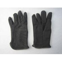Lã de algodão preto Jersey Fleecy forrado de trabalho de inverno-2107