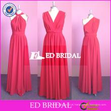 ED Bridal Custom Made Long Chiffon Mudável vestido de dama de honra 2017 de alta qualidade