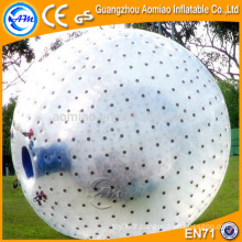 0.8mm ballon de football gonflable en PVC, zorb ball