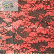 Tela do laço ligada com tecido de poliéster para saia