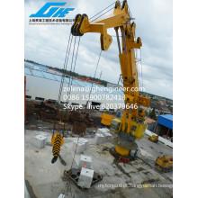 Certificado ABS 100 T Capacidade de Elevação Crane Knuckle Boom Crane