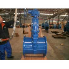 DIN3352 Elastisches Schieberventil, nicht steigender Schaft, mit Getriebe, Dn50-Dn1200