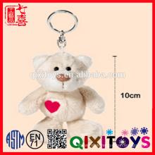 New key decorative cute teddy keyrings customed for keys