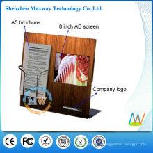Présentoir acrylique avec écran lcd 8 pouces