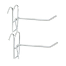 Silver Tone Grid Wall Bracket Clothes Towels Hanger Display Hooks