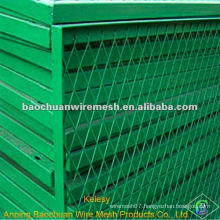 Low carbon steel plate Green powder coated expandable sheet metal diamond mesh