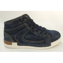 Moda alta Top Washed Denim Street Casual Sapatos