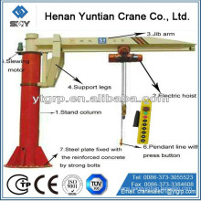 High Performance 1 Ton electric hoist Jib Boom Crane More questions, please send message to us!