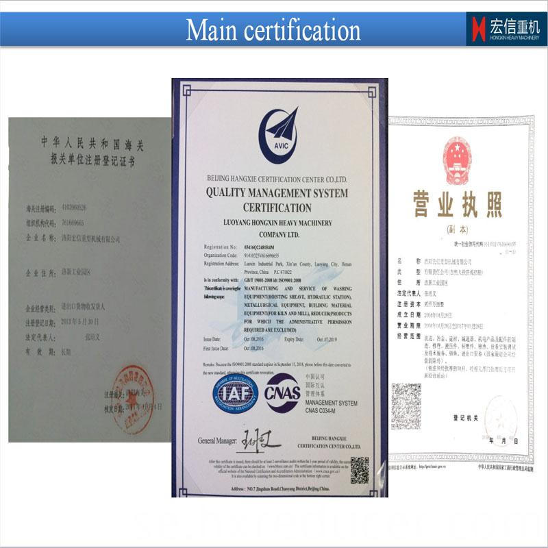heavy machinery company main certification