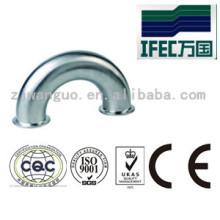Aço inoxidável sanitário 180 graus do cotovelo grampeado (IFEC-SE100001)