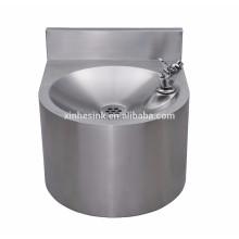 Bassin de lavage de main de restauration commerciale avec le splashback, évier de lavage des mains d'acier inoxydable de mur pour le restaurant
