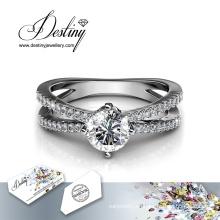 Destino joyería cristal Swarovski Xena bonito anillo de
