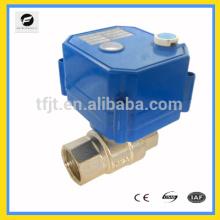 """CWX-25S Válvulas eléctricas de motor DC5V 3/4 """"de 2 vías para equipos y sistemas de control automático"""