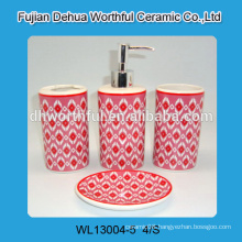 High quality decal ceramic bathroom items