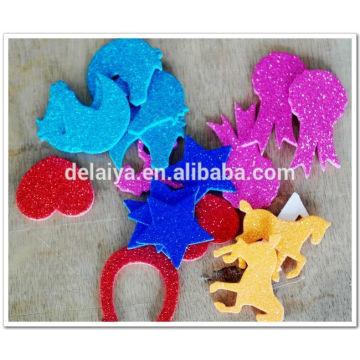 glitter EVA foam stickers for children handmade