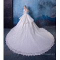 Vintage ball gown women wedding dress with tail