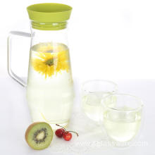 Glass Carafe with Stainless Steel Silicone Lid