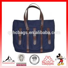 Nouveau sac fourre-tout à couches en cuir de modèle Sac fourre-tout en toile pour homme (ES-Z366)