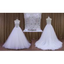 Precio al por mayor de Guangzhou vestido rebordear vestido de novia de la blusa