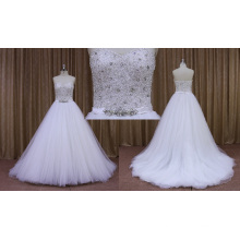 Wholesale Price Guangzhou Design Beading Bodice Bridal Dress